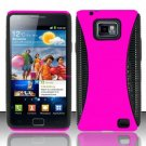 Hard Rubber Feel Hybrid Case for Samsung Galaxy S II i777/i9100 (AT&T) - Pink
