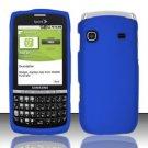 Hard Rubber Feel Plastic Case for Samsung Replenish M580 M580 - Blue