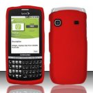 Hard Rubber Feel Plastic Case for Samsung Replenish M580 M580 - Red