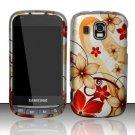 Hard Rubber Feel Design Case for Samsung Transform Ultra - Red Flowers