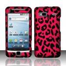 Hard Rubber Feel Design Case for HTC T-Mobile G2 - Pink Leopard