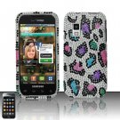 Hard Rhinestone Design Case for Samsung Fascinate - Colorful Leopard