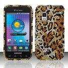 Hard Rhinestone Design Case for Samsung Fascinate - Cheetah