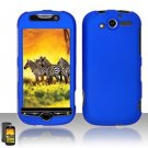 Hard Rubber Feel Plastic Case for HTC myTouch 4G (T-Mobile) - Blue