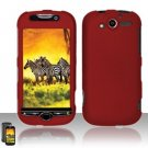 Hard Rubber Feel Plastic Case for HTC myTouch 4G (T-Mobile) - Red