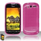 TPU Crystal Gel Case for HTC myTouch 4G (T-Mobile) - Pink
