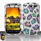 Hard Rhinestone Design case for HTC myTouch 4G (T-Mobile) - Colorful Leopard