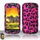 Hard Rubber Feel Design Case for HTC myTouch 4G (T-Mobile) - Pink Leopard