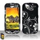 Hard Rubber Feel Design Case for HTC myTouch 4G (T-Mobile) - Midnight Garden