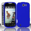 Hard Rubber Feel Plastic Case for HTC myTouch 4G Slide (T-Mobile) - Blue