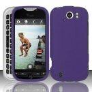 Hard Rubber Feel Plastic Case for HTC myTouch 4G Slide (T-Mobile) - Purple