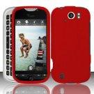 Hard Rubber Feel Plastic Case for HTC myTouch 4G Slide (T-Mobile) - Red