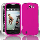 Hard Rubber Feel Plastic Case for HTC myTouch 4G - Rose Pink