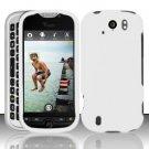 Hard Rubber Feel Plastic Case for HTC myTouch 4G Slide (T-Mobile) - White