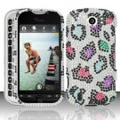 Hard Rhinestone Design Case for HTC myTouch 4G Slide (T-Mobile) - Colorful Leopard