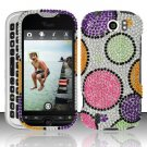 Hard Rhinestone Design Case for HTC myTouch 4G Slide (T-Mobile) - Rainbow Dots