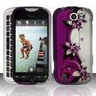 Hard Rubber Feel Design Case for HTC myTouch 4G Slide (T-Mobile) - Purple Vines