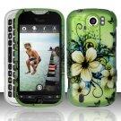 Hard Rubber Feel Design Case for HTC myTouch 4G Slide (T-Mobile) - Hawaiian Flowers