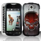 Hard Rubber Feel Design Case for HTC myTouch 4G Slide (T-Mobile) - Red Skull