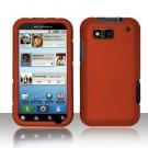 Hard Rubber Feel Plastic Case for Motorola Defy MB525 (T-Mobile) - Orange