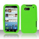 Soft Premium Silicone Case for Motorola Defy MB525 (T-Mobile) - Neon Green
