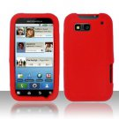 Soft Premium Silicone Case for Motorola Defy MB525 (T-Mobile) - Red