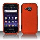 Hard Rubber Feel Plastic Case for Samsung Galaxy Indulge R910 - Orange