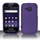Hard Rubber Feel Plastic Case for Samsung Galaxy Indulge R910 - Purple