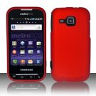 Hard Rubber Feel Plastic Case for Samsung Galaxy Indulge R910 - Red