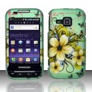 Hard Rubber Feel Design Case for Samsung Galaxy Indulge R910 - Natural Flowers