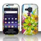 Hard Rubber Feel Design Case for Samsung Galaxy Indulge R910 - Tropical Flowers