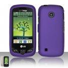 Hard Rubber Feel Plastic Case for LG Beacon/Attune (MetroPCS/U.S. Cellular) - Purple