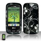 Hard Rubber Feel Design Case for LG Beacon/Attune (MetroPCS/U.S. Cellular) - Midnight Garden
