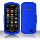 Hard Rubber Feel Plastic Case for Samsung Solstice II A817 - Blue