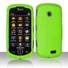 Hard Rubber Feel Plastic Case for Samsung Solstice II A817 - Neon Green
