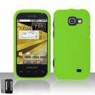 Hard Rubber Feel Plastic Case for Samsung Transform M920 - Neon Green
