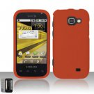 Hard Rubber Feel Plastic Case for Samsung Transform M920 - Orange