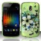 Hard Rubber Feel Design Case for Samsung Galaxy Nexus i515 - Hawaiian Flowers