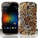Hard Rhinestone Design Case for Samsung Galaxy Nexus i515 - Cheetah
