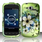 Hard Rubber Feel Design Case for Pantech Burst P9070 (AT&T) (AT&T) - Hawaiian Flowers