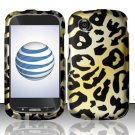 Hard Rubber Feel Design Case for ZTE Avail Z990 - Cheetah