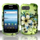 Hard Rubber Feel Design Case for ZTE Fury N850 - Hawaiian Flowers