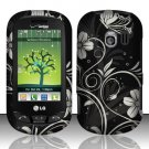 Hard Rubber Feel Design Case for LG Extrovert VN271 (Verizon) - Midnight Garden