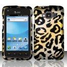 Hard Rubber Feel Design Case for Samsung Rugby Smart i847 - Cheetah