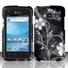 Hard Rubber Feel Design Case for Samsung Rugby Smart i847 - Midnight Garden