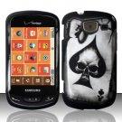 Hard Rubber Feel Design Case for Samsung Brightside U380 - Spade Skull