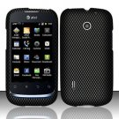 Hard Rubber Feel Design Case for Huawei Fusion (AT&T) - Carbon Fiber