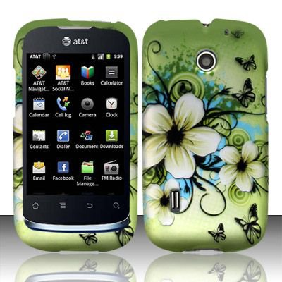 Hard Rubber Feel Design Case for Huawei Fusion (AT&T) - Hawaiian Flowers