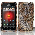 Hard Rhinestone Design Case for Motorola Droid 4 XT894 (Verizon) - Cheetah