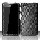 Hard Rubber Feel Design Case for Motorola Droid RAZR MAXX XT913/XT916 (Verizon) - Carbon Fiber